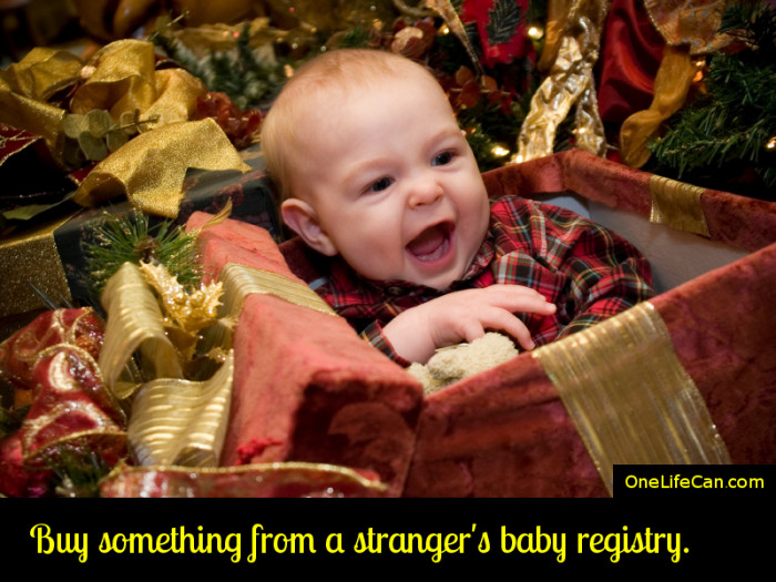 Mindful Act of Kindness - Buy Something From a Stranger's Baby Registry