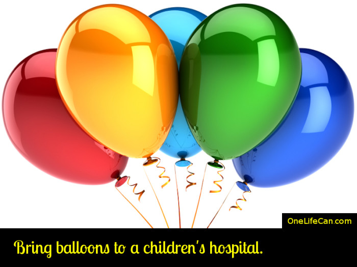 Mindful Act of Kindness - Bring Balloons to a Children's Hospital