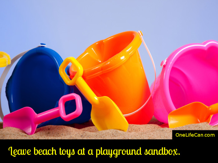 Mindful Act of Kindness - Leave Beach Toys at a Playground Sandbox