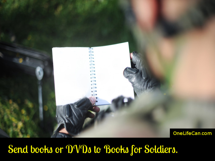 Mindful Act of Kindness - Send Books or DVDs to Books for Soldiers