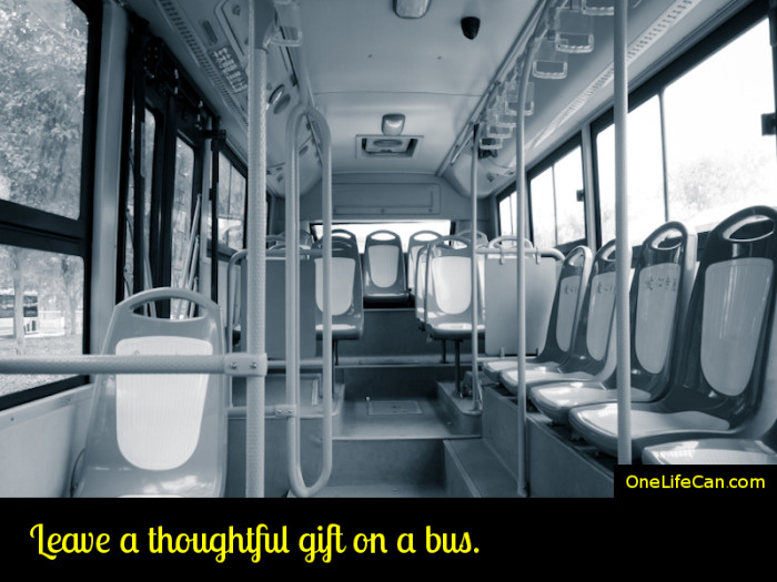 Mindful Act of Kindness - Leave a Thoughtful Gift on a Bus