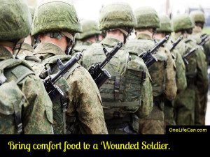 Mindful Act of Kindness - Bring Comfort Food to a Wounded Soldier