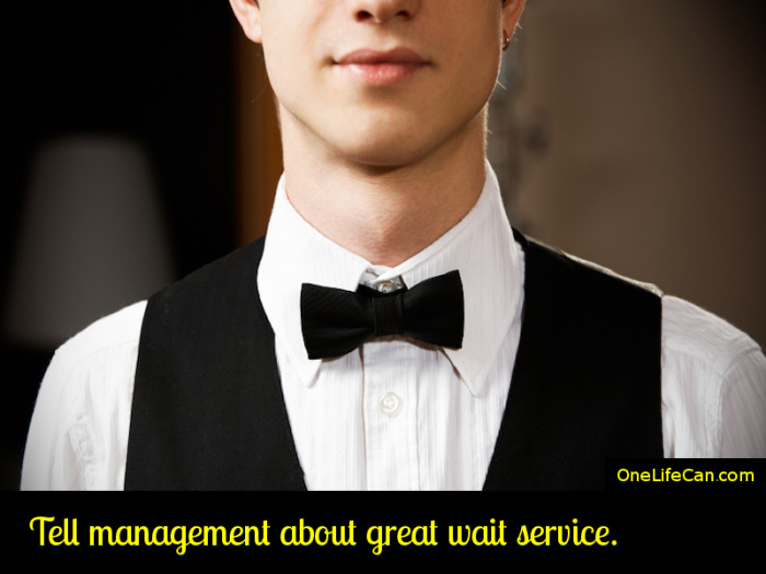 Mindful Act of Kindness - Tell Management About Great Wait Service