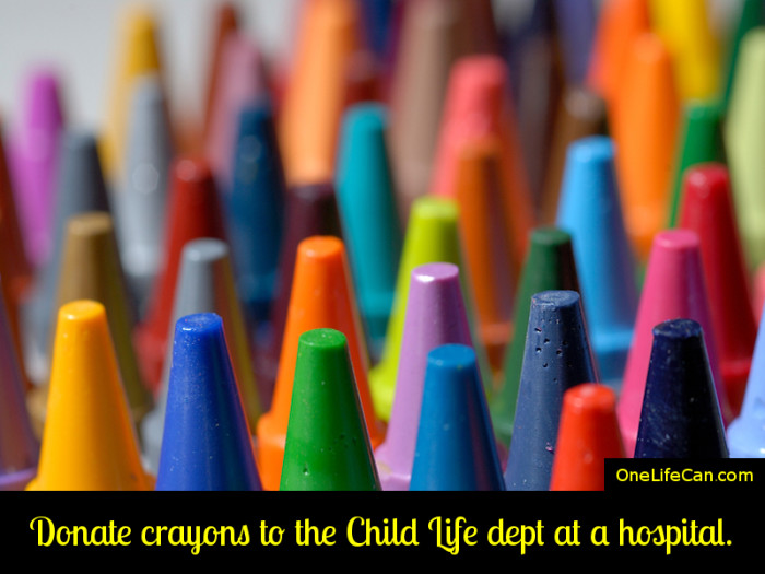 Mindful Act of Kindness - Donate Crayons to the Child Life Department at a Hospital