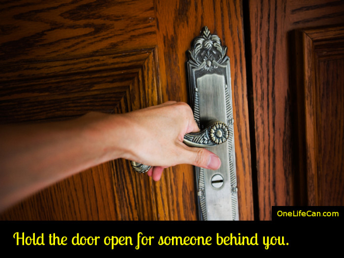 Mindful Act of Kindness - Hold the Door Open for Someone Behind You