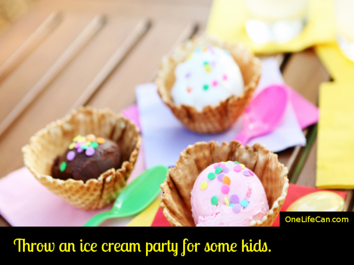 Mindful Act of Kindness - Throw an Ice Cream Party for Some Kids