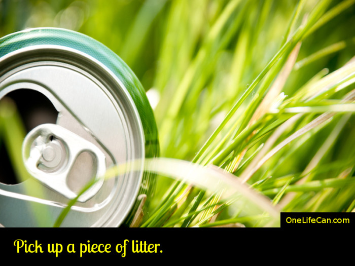 Mindful Act of Kindness - Pick Up a Piece of Litter
