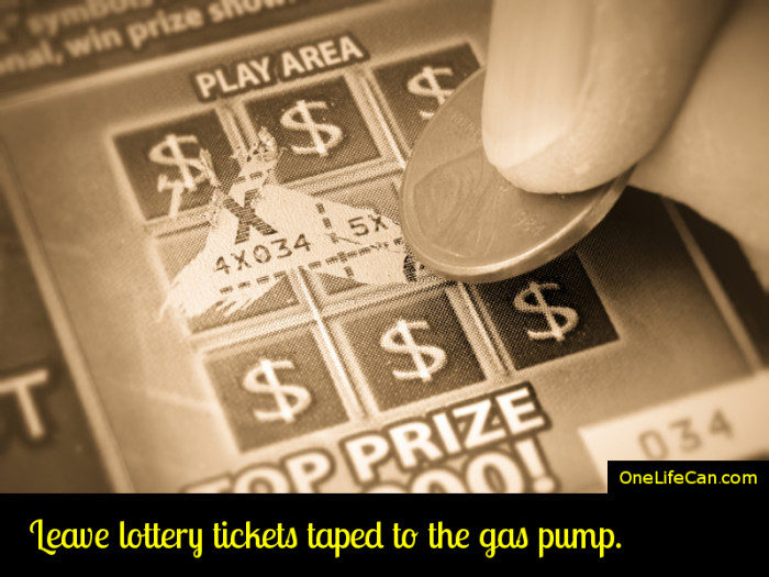 Mindful Act of Kindness - Leave Lottery Tickets Taped to the Gas Pump