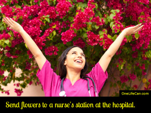 Mindful Act of Kindness - Send Flowers to a Nurse's Station at the Hospital