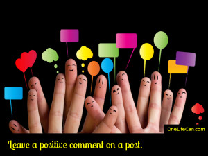 Mindful Act of Kindness - Leave a Positive Comment on a Post
