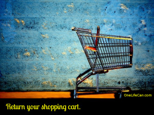 Mindful Act of Kindness - Return Your Shopping Cart