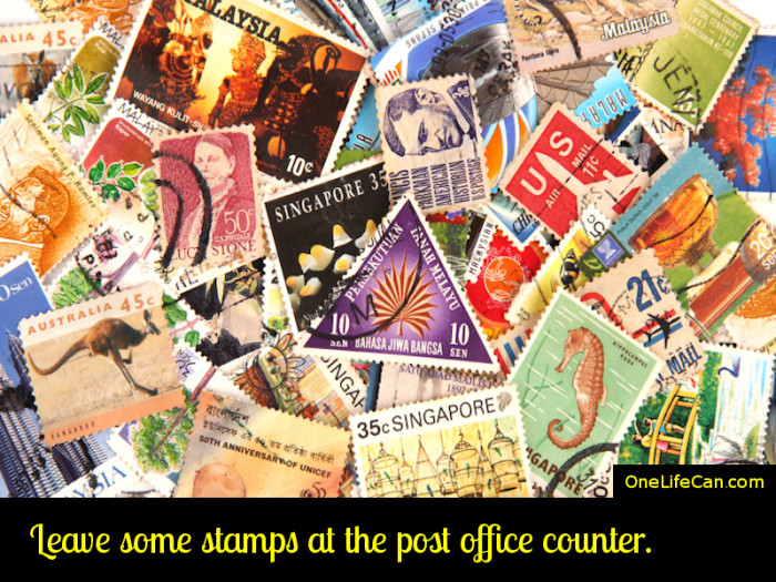 Mindful Act of Kindness - Leave Some Stamps at the Post Office Counter