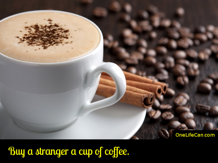 Mindful Act of Kindness - Buy a Stranger a Cup of Coffee